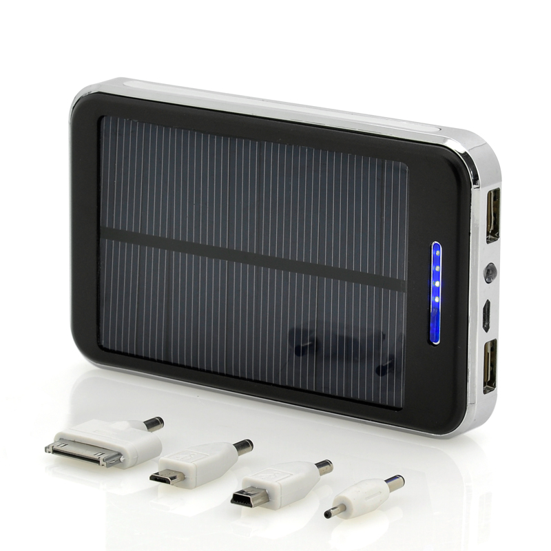 20000mAh Solar Power Phone Charger - 3.7v, Solar Battery Bank, 2x USB ...
