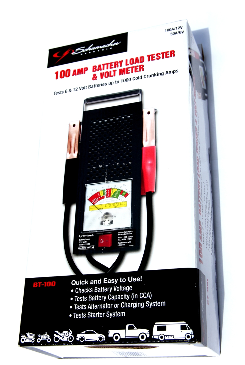 8 Volt Battery Load Tester : Schumacher amp battery load tester volt meter bt