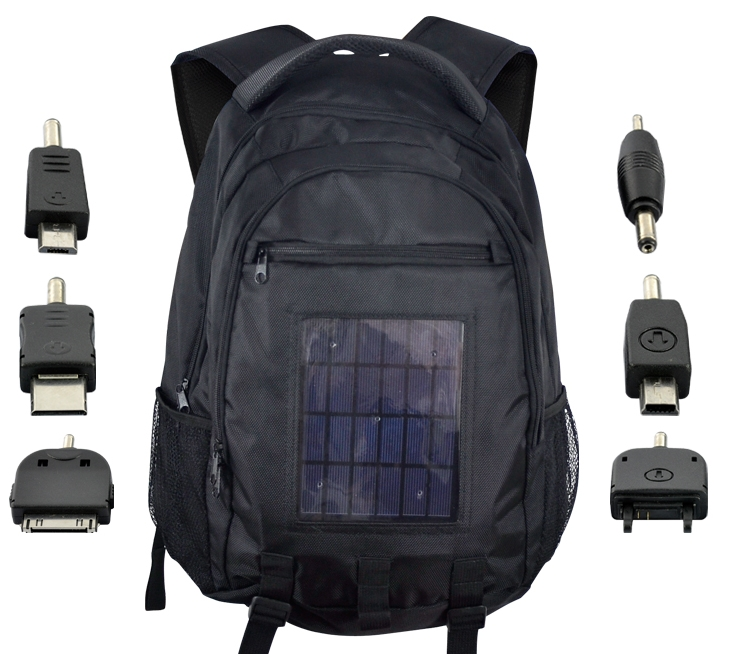 Solar Battery Charger Backpack 2200mAh 2 4W Solar Panel | eBay