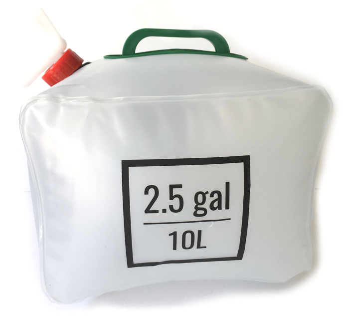 10x 20L 5.3Gallon Collapsible Water Storage Carrier Container for Camping Hiking